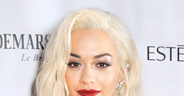 Rita Ora Hair Singer Dyes Her Blue Hair Yellow: Rita Ora Debuts Platinum Blond Hair—See The Pic!