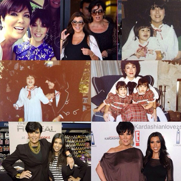 Kourtney Kardashian, Kris Jenner, Instagram