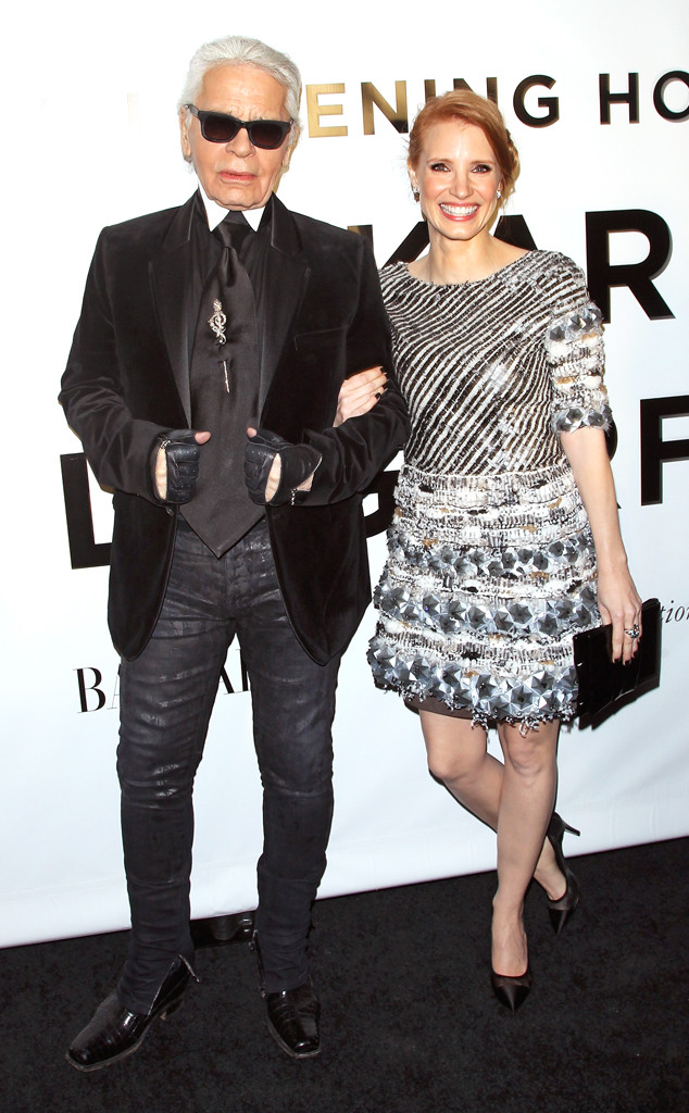 Karl Lagerfeld, Jessica Chastain
