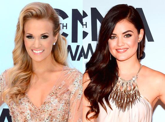 CMA Beauty, Carrie Underwood, Lucy Hale, Headshot