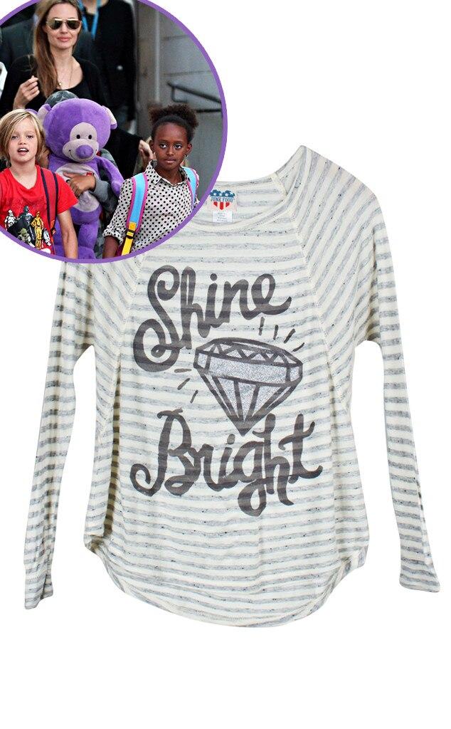 Junk Food Kids Shine Bright T-Shirt, Shiloh, Star-Wothy Kids Gifts