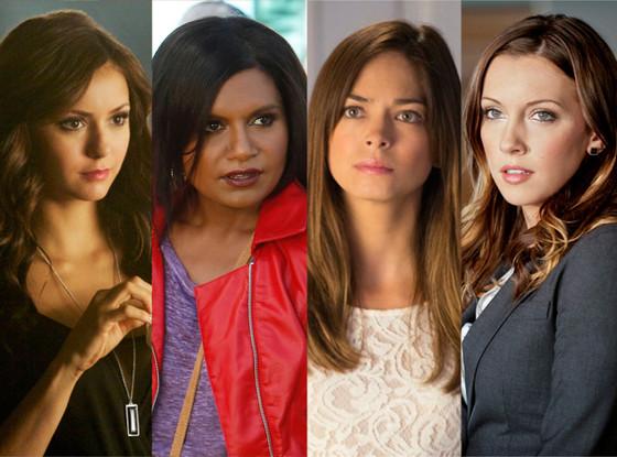 Katherine Pierce, Nina Dobrev, Cat Chandler, Kristin Kreuk, Laurel Lance, Katie Cassidy, Mindy Kaling, The Mindy Project