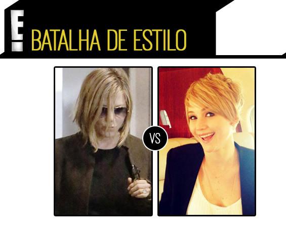 Jennifer Lawrence e Jennifer Aniston se enfrentam no quesito cabelo