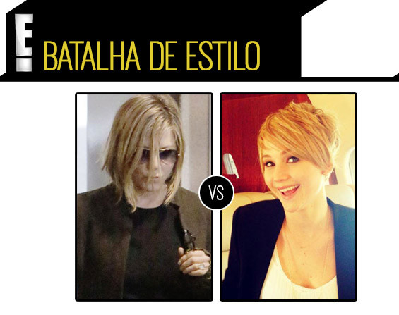 Jennifer Aniston Jennifer Lawrence cabelo