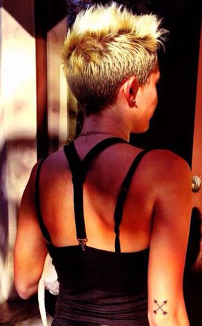 Miley Cyrus, Twit Pic, Tattoo