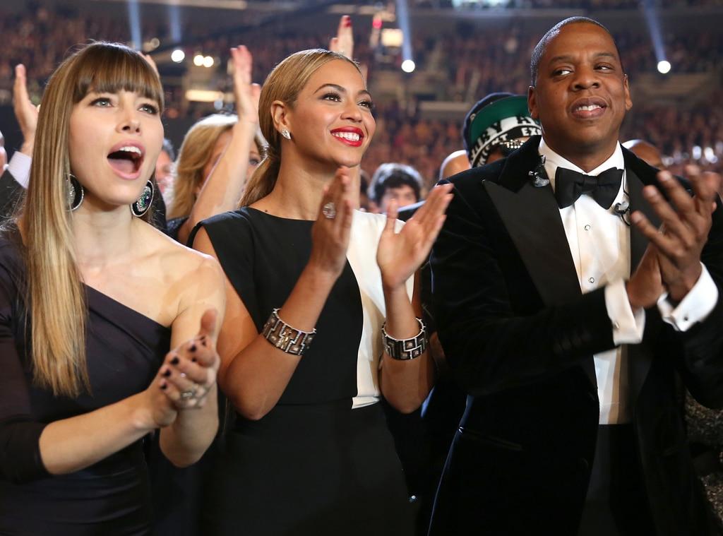 Jessica Biel, Beyonce, Jay-Z, Grammy