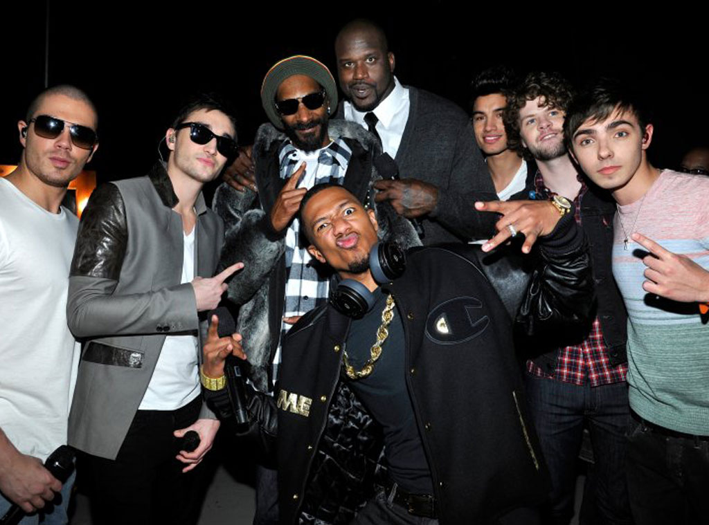 The Wanted, Snoop Dogg aka Snoop Lion, Nick Cannon and Shaquille O'Neal