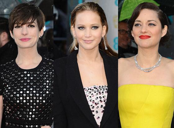 Anne Hathaway, Jennifer Lawrence, Marion Cotillard