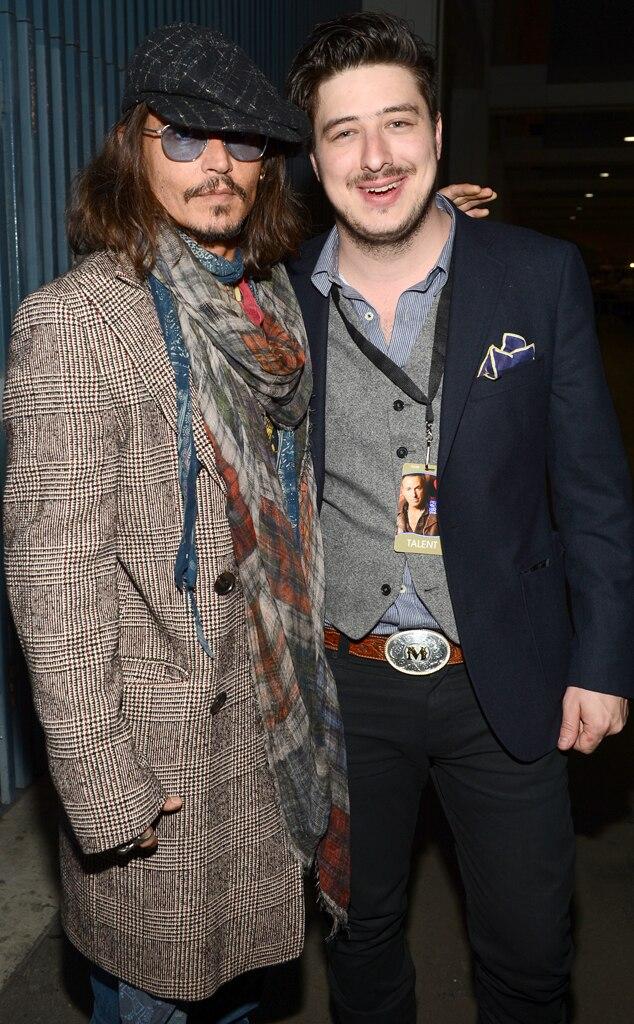 Johnny Depp, Marcus Mumford