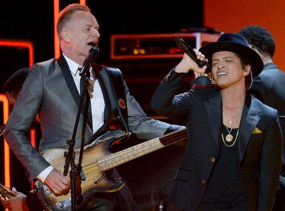 Sting, Bruno Mars, Grammys, Performance