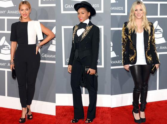 Kaley Cuoco, Beyonce, Janelle Monae, Menswear Trend, Grammys
