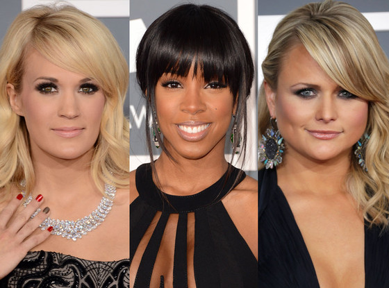 Miranda Lambert, Carrie Underwood, Kelly Rowland, Nude Lips, Grammys