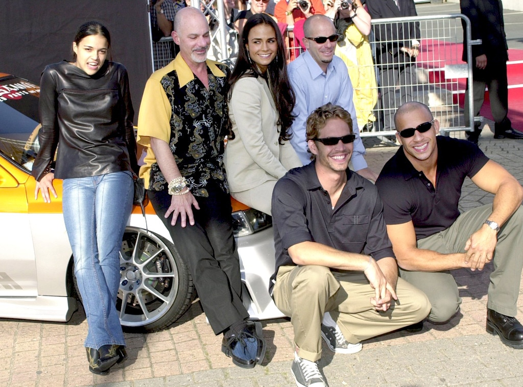 Jordana Brewster, Michelle Rodriguez, Vin Diesel and Paul Walker