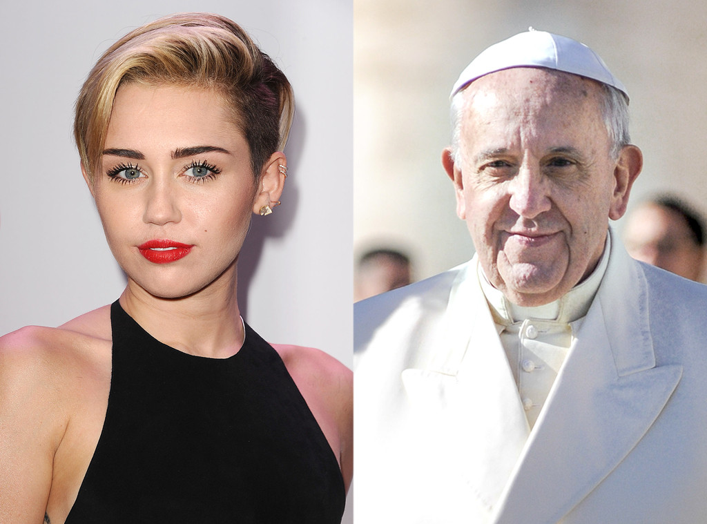 Pope Francis, Miley Cyrus