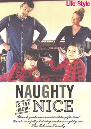 Eddie Cibrian, LeAnn Rimes, Christmas Card