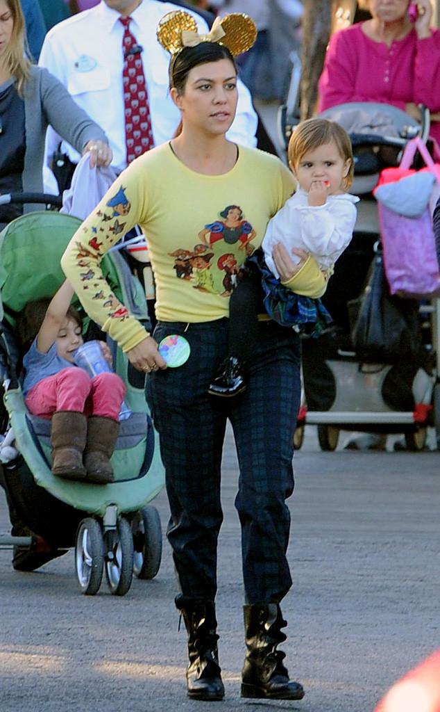 Kourtney Kardashian, Penelope Disick, Disneyland