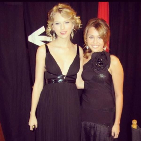 Taylor Swift, Miley Cyrus, Instagram
