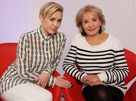 Miley Cyrus, Talk Show Fashion, Barbara Walters, 10 Most Fascinating People