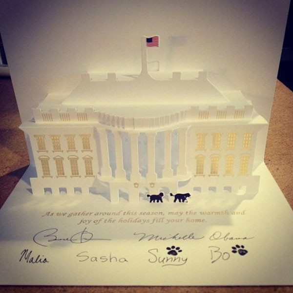 White House Christmas Card, Obama