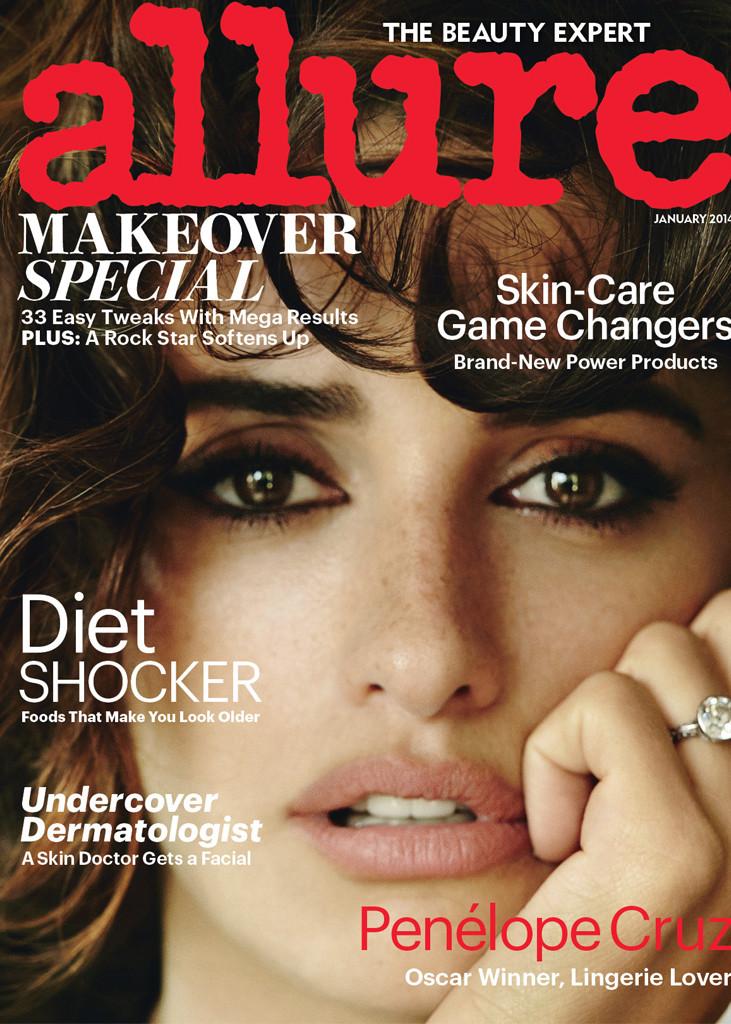 Penelope Cruz, Allure, Strict Embargo Until 12/17/2013