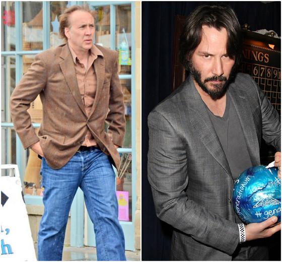 Nicolas Cage e Keanu Reeves, celebridades idade