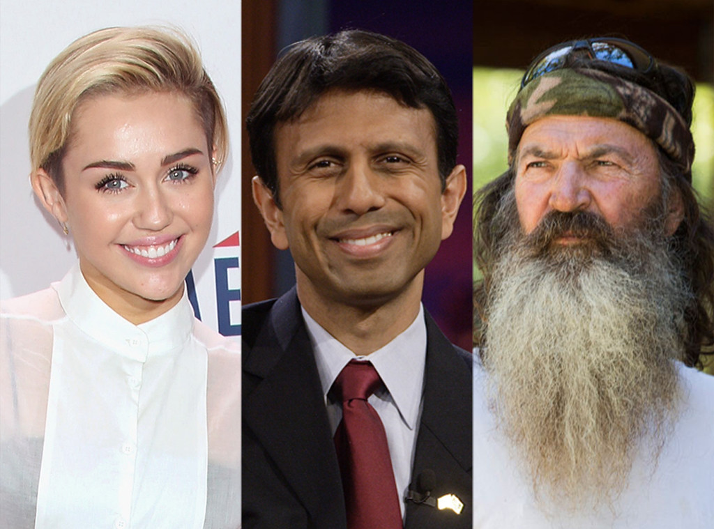 Phil Robertson, Bobby Jindal, Miley Cyrus