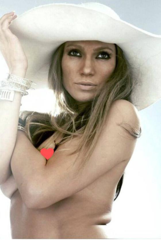Jennifer Lopez com e sem photoshop