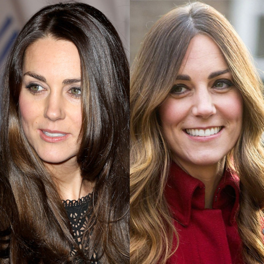 kate middleton debuts darker hair color e online kate middleton debuts darker hair color