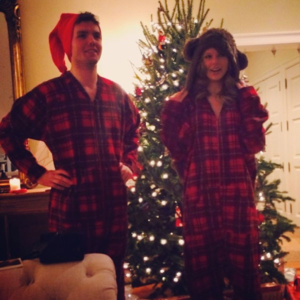 eaff498e9f92 Taylor Swift and Her Brother Wear Matching Christmas Onesies