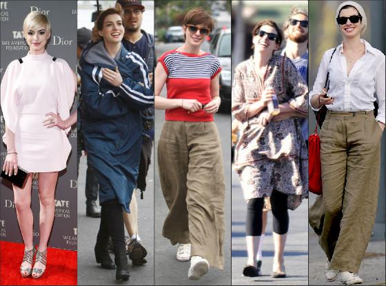 Top mal vestidas Anne Hathaway