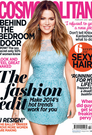 Khloe Kardashian, Cosmopolitan,  *EMBARGOED UNTIL 00:01 (GMT) 30TH DECEMBER 2013*