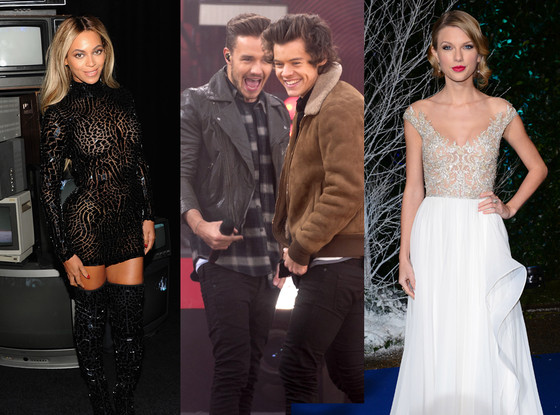 Beyonce, One Direction, Taylor Swift