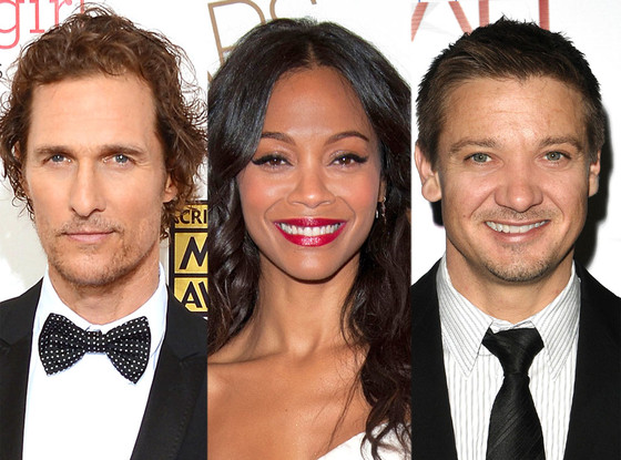 Matthew McConaughey, Zoe Saldana, Jeremy Renner