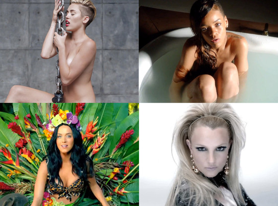 Miley Cyrus, Rihanna, Katy Perry, Britney Spears