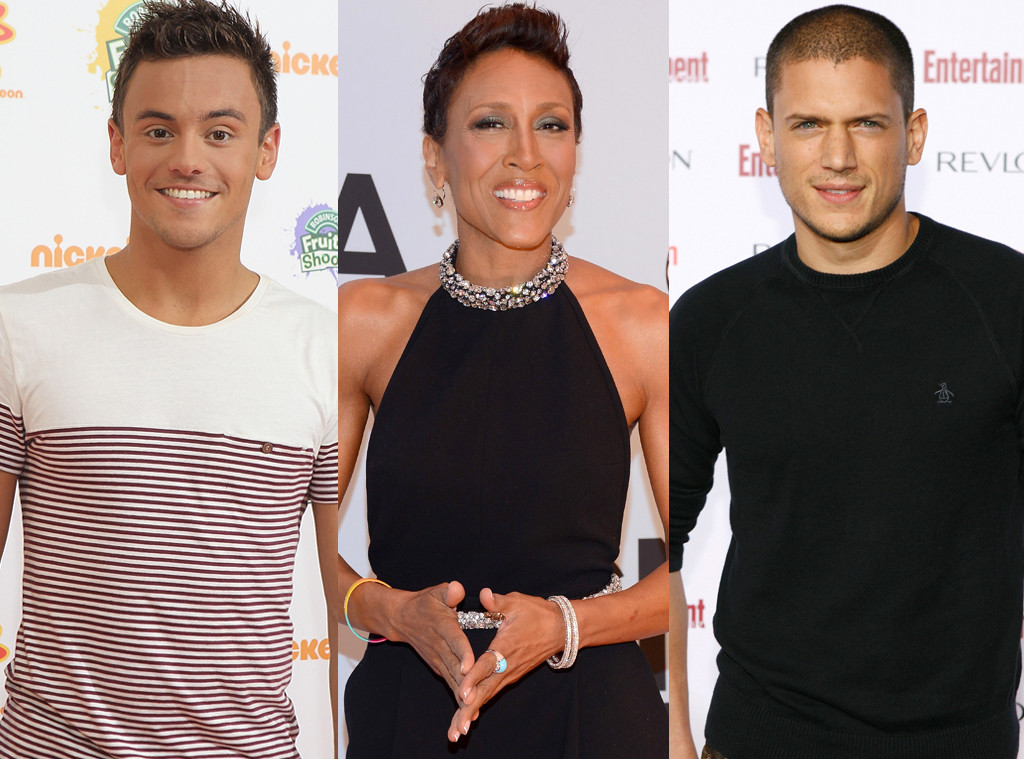 Robin Roberts, Tom Daley, Wentworth Miller