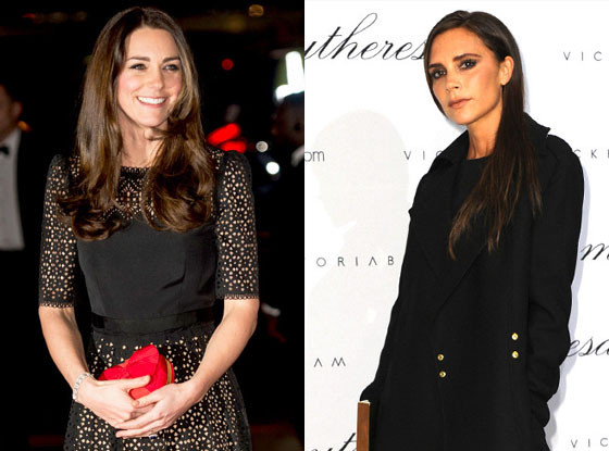 Catherine, Duchess of Cambridge, Kate Middleton, Victoria Beckham