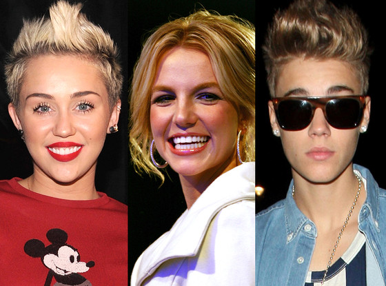 Miley Cyrus, Britney Spears, Justin Bieber