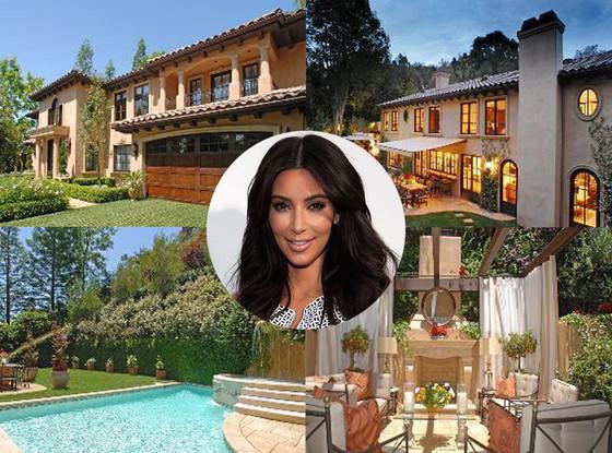 pregnant kim kardashian sells beverly hills mansion e news