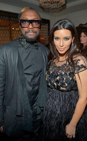 Will.i.am, Kim Kardashian