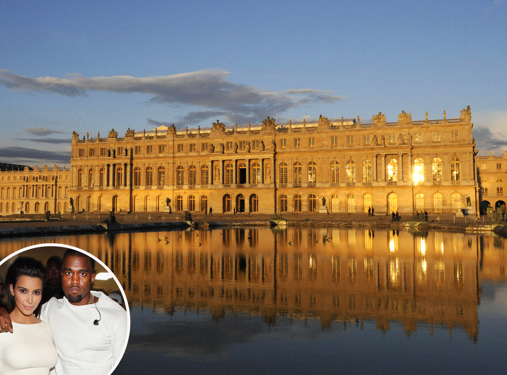 Kim Kardashian, Kanye West, Wedding, Versailles Castle