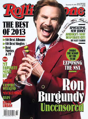 Ron Burgundy, Will Ferrell, Rolling Stone