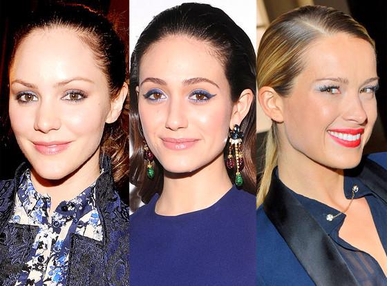 Blue Eyeshadow: Katharine McPhee, Emmy Rossum, Petra Nemcova