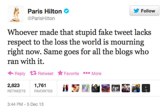 Paris Hilton Slams Stupid Fake Tweet: She Did Not Confuse ...