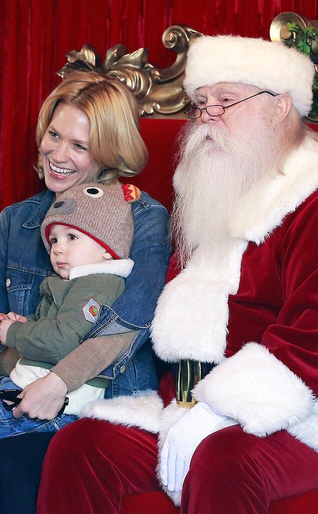 January Jones, Xander, Santa Claus