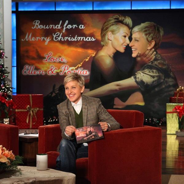Ellen DeGeneres & Portia De Rossi From Celebrity Christmas
