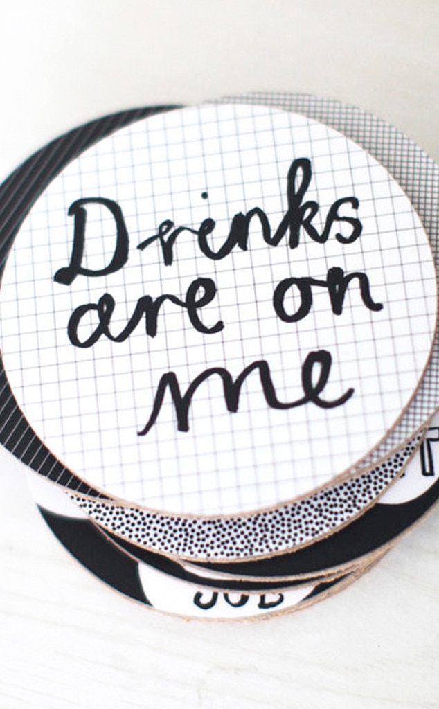 Last Minute Gift Guide, Drinks On Me Coasters