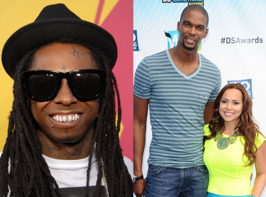 Adrienne Bosh, Chris Bosh, Lil Wayne