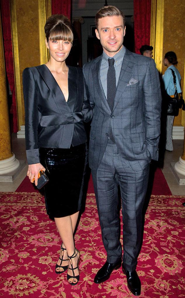Jessica Biel, Justin Timberlake, Tom Ford, London Fashion Week