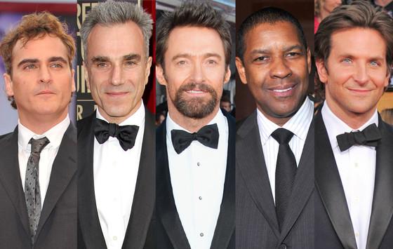 Joaquin Phoenix, Daniel Day-Lewis, Hugh Jackman, Denzel Washington, Bradley Cooper