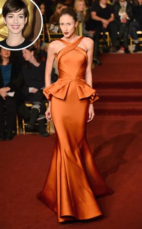Anne Hathaway, Zac Posen Model